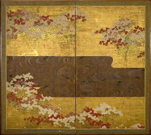 Ogata Kōrin (尾形光琳, 1658 – June 2, 1716) was a Japanese painter of the Rinpa school.