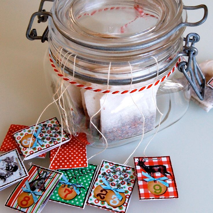 DIY für einen Tee-Adventskalender mit Freebie zum ausdrucken