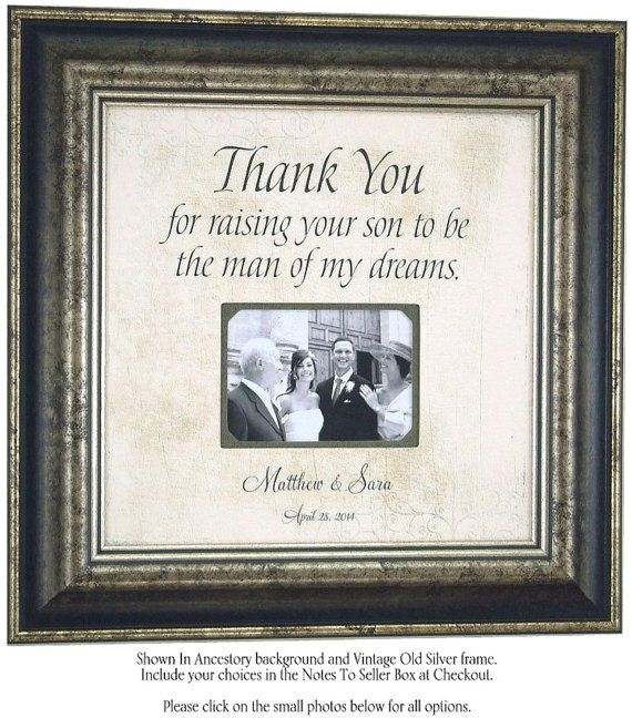 Wedding Gift To Groom Parents Thank You For Raising The
