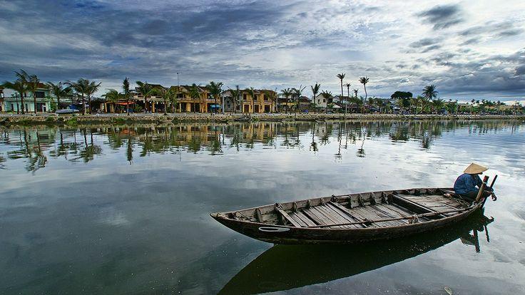 A palm-grove fishermen's quay.