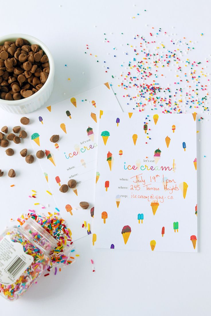 Printable Ice Cream Party Invitation | Squirrelly Minds