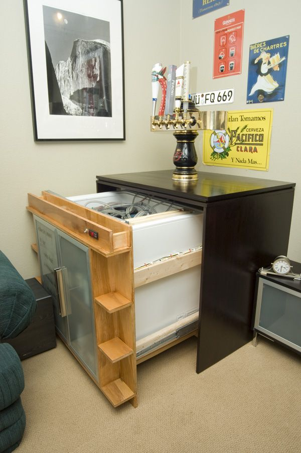 Fascinating drawer-based keezer! love the storage up front