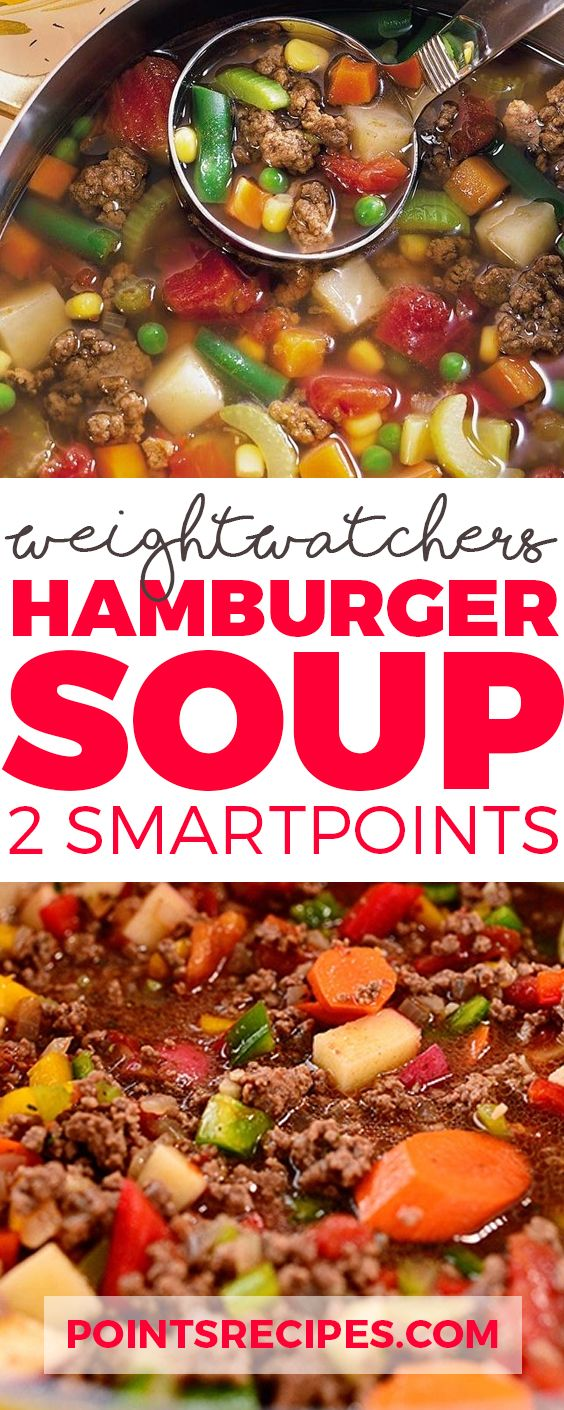 Weight Watchers Hamburger Soup (2 SmartPoints only)