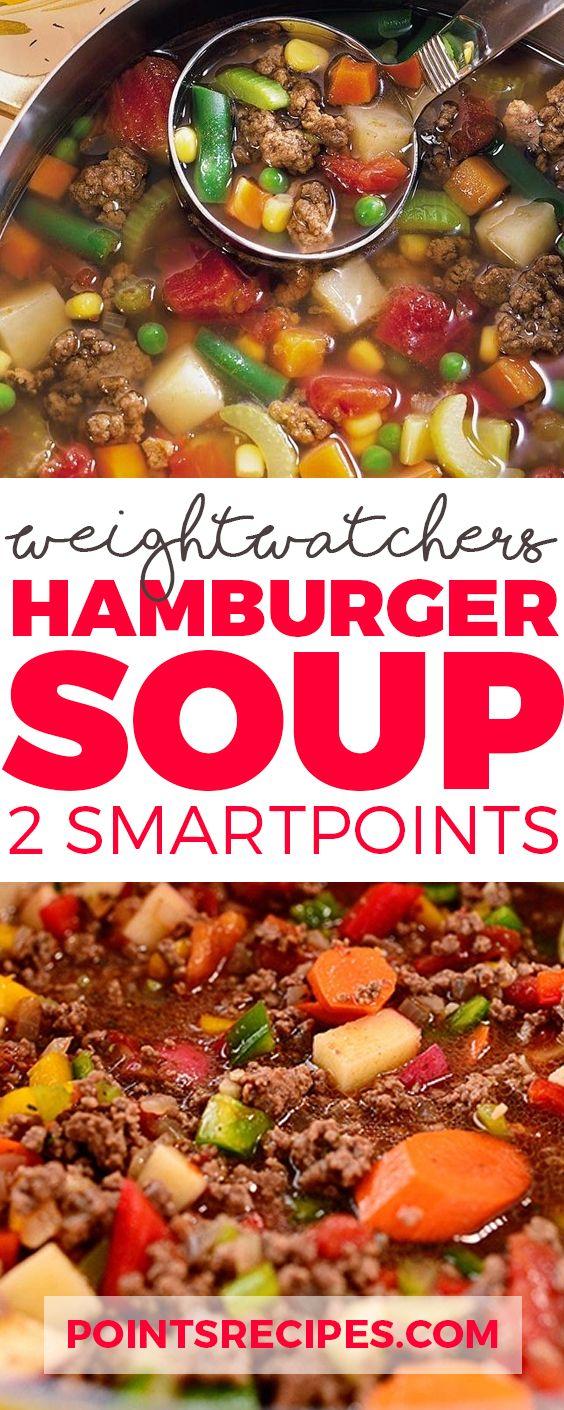Weight Watchers Hamburger Soup (2 SmartPoints only)