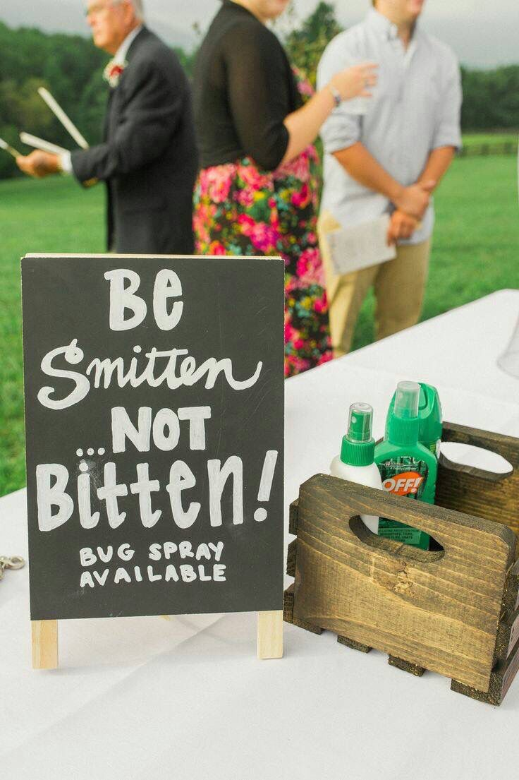 Great idea for an outdoor wedding