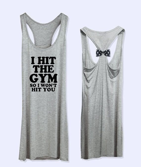 I Hit The Gym So I won't hit you workout fitness by VintTime, $24.00