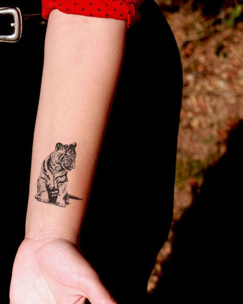 Asiatique tigre tatouage temporaire - pretty cute