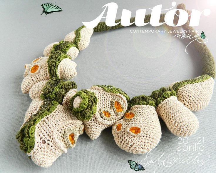 Lidia Puică: My concept is creating jewellery inspired by the organic. I use tradition techniques like croche and embroiding, but in a free, modern manner which enables me to find new shapes and textures.