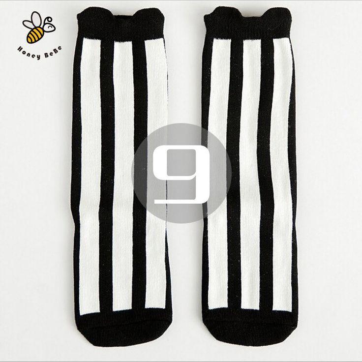 Girls Socks , cotton Knee High Long