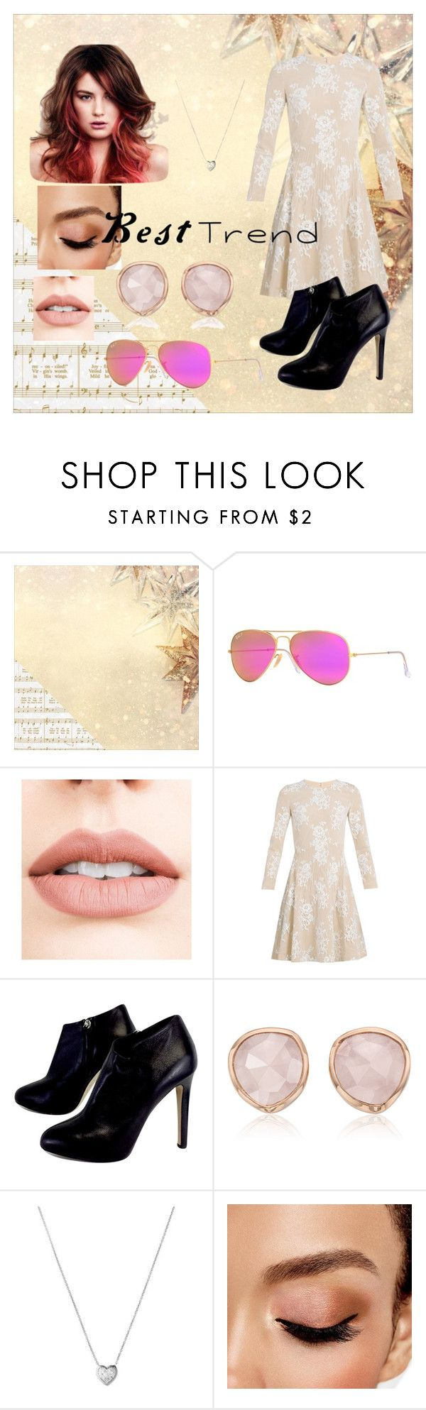 """Vestidos de moda juveniles 2016"" by johemilydrg on Polyvore featuring Kaisercraft, Ray-Ban, Jouer, HUISHAN ZHANG, Giuseppe Zanotti, Monica Vinader, Rojas, Links of London, Avon y men's fashion"