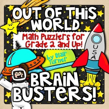 Engage students and build number sense and problem solving skills at the same time! This Out of This World Brain Busters packet is a set of 10 challenging math picture problems that will require students to think flexibly about numbers and their relationships.