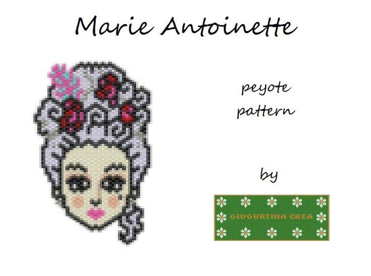 Marie Antoinette #marieantoinette #mariaantonietta #mariaantonieta #peyotestitch #miyuki
