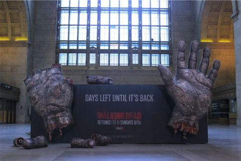 Gross. And genius. || Giant Rotting Fingers Count Down to Walking Dead's Return | Adweek