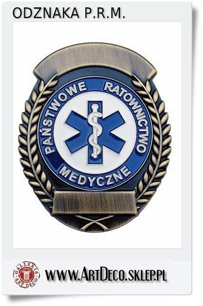 Odznaka dla Ratownika Medycznego z możliwością wygrawerowania numeru
