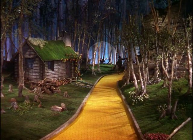 Wizard of Oz Yellow Brick Road | The Wizard of Oz hanging munchkin suicide Hollywood urban legends ...