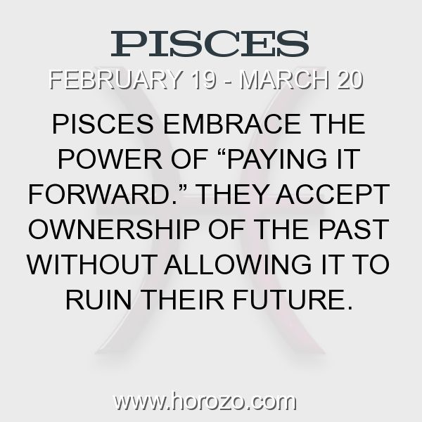 "Fact about Pisces: Pisces embrace the power of ""paying it forward.""... #pisces, #piscesfact, #zodiac. Pisces, Join To Our Site https://www.horozo.com  You will find there Tarot Reading, Personality Test, Horoscope, Zodiac Facts And More. You can also chat with other members and play questions game. Try Now!"