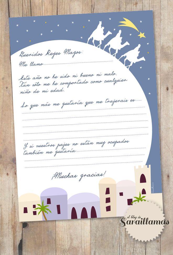 Carta a los Reyes Magos para descargar