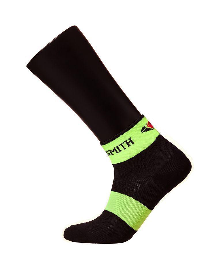 Sooty Smith Ankle Cycling Lycra Easy Cool Bike Socks Lightweight Womens Unisex (S = Size 9.5 (US Men Shoes 6-8.5 = Women 7-9.5), Black Neon 1pair S). Sooty Smith professional socks - chosen by national cycling team (2014 Inches Asian Games, 2016 Rio Olympics). Easy cool function yarn with mesh structure - quick drying, sweat-absorbing, anti-odor property with comfortable fit. Integrated lycra spandex for comfort and tight fit, extended durability and achilles tendon support. 1pair, Ankle...