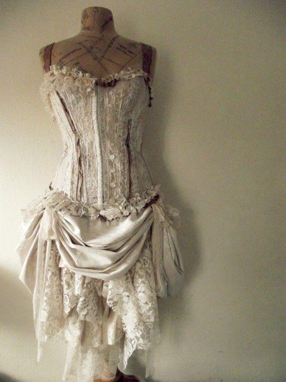83 best lingerie and pretty boys images on pinterest for Wedding dress corset bra