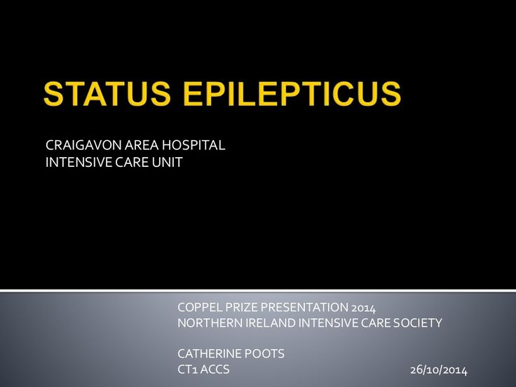 Status Epilepticus by NHS via slideshare