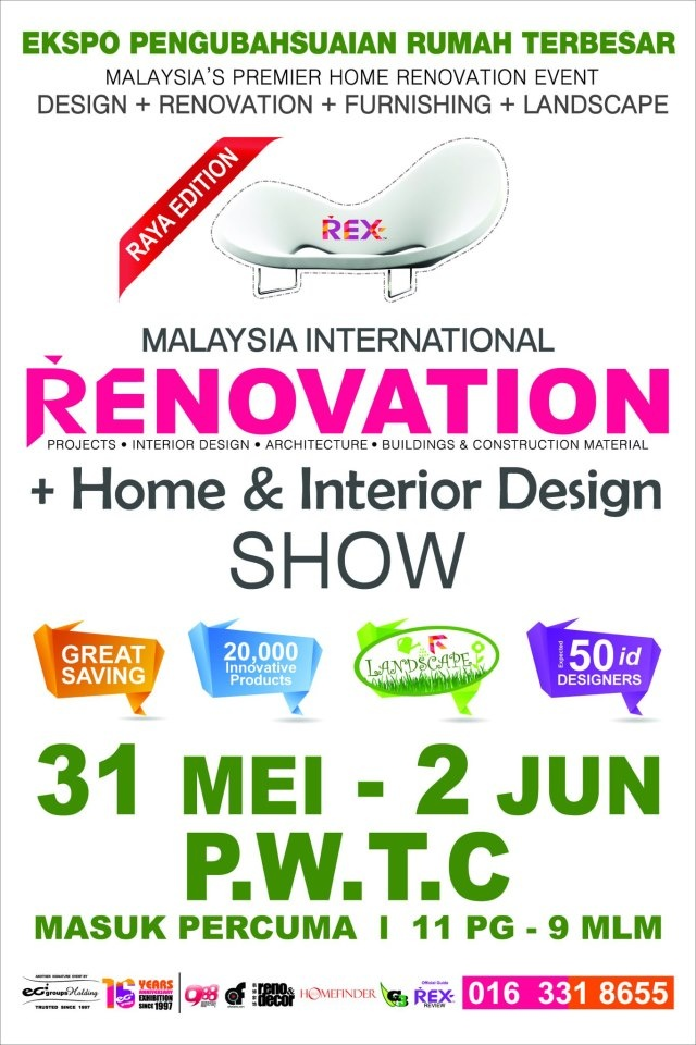 Malaysia International Renovation Home Interior Design SHOW From 31 May 2 June At