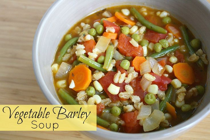 Pin It          I can't find the words to express how much I LOVE vegetable barley soup. Just look at that gorgeous color - it's one big veg...