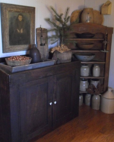 Nice Love This Dry Sink And Corner Cupboard!