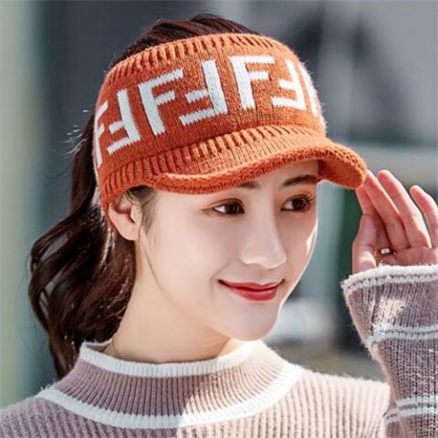 Letter peaked beanie with hole on top for women winter toboggan knit messy  bun hats for sale 87b2890a2