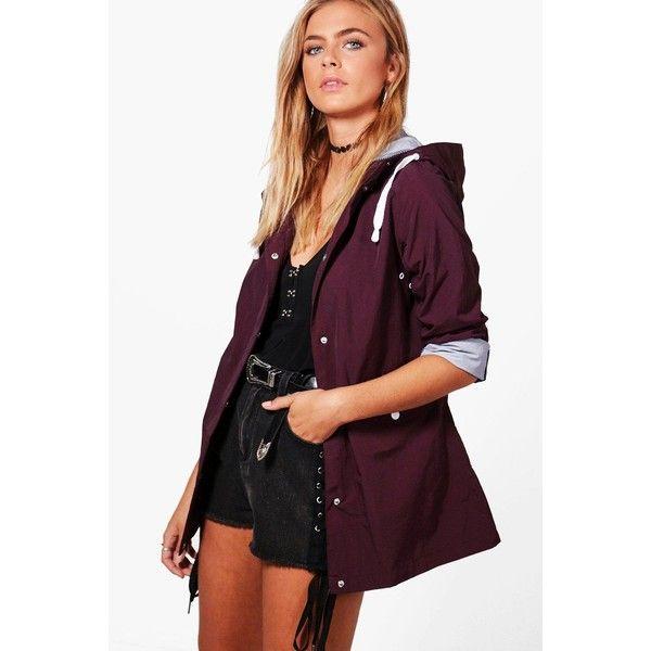 Boohoo Phoebe Festival Mac ($40) ❤ liked on Polyvore featuring outerwear, coats, duster coat, mac coat, rain coat, wrap coat and puffy coat