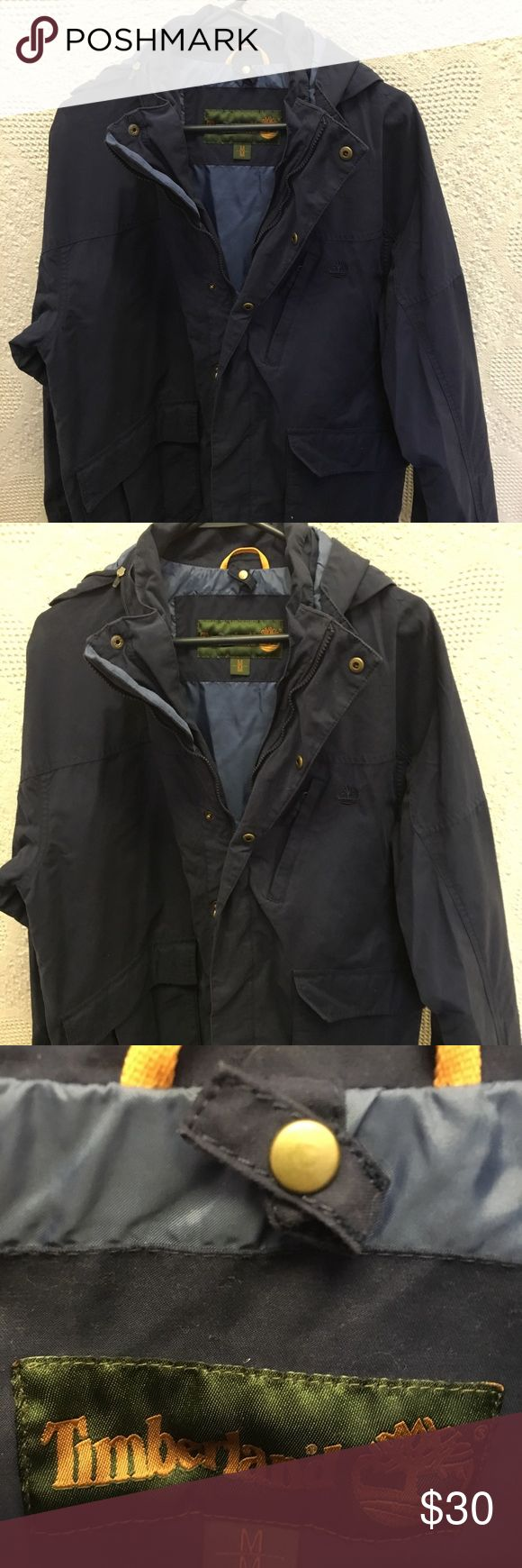 Timberland Mens Jacket Medium Navy Timberland Mens Jacket Medium Navy Timberland Jackets & Coats Lightweight & Shirt Jackets