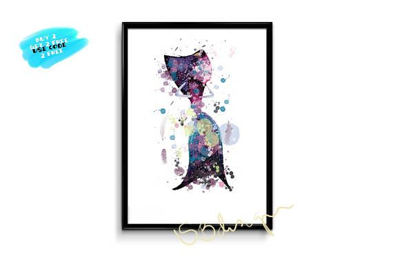 Shark Tale Lola Poster watercolor poster printable wall art