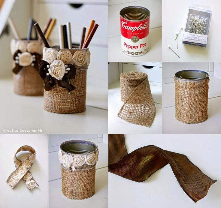 Reciclando-latas-con-arpillera