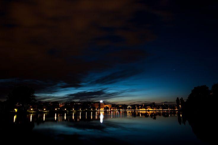 Night sky in Copenhagen -
