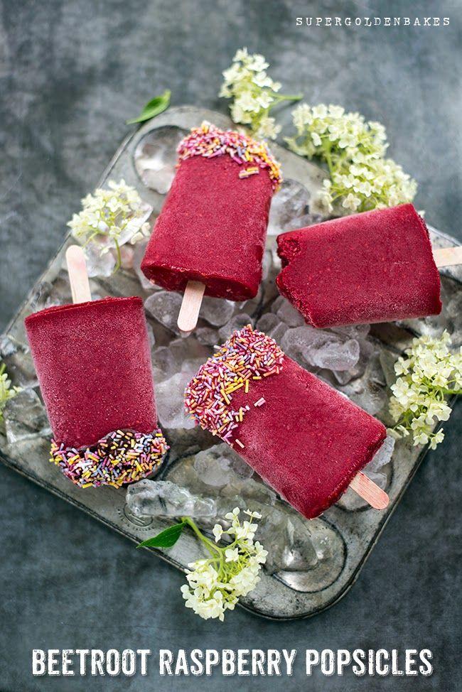 Beetroot Raspberry Popsicles