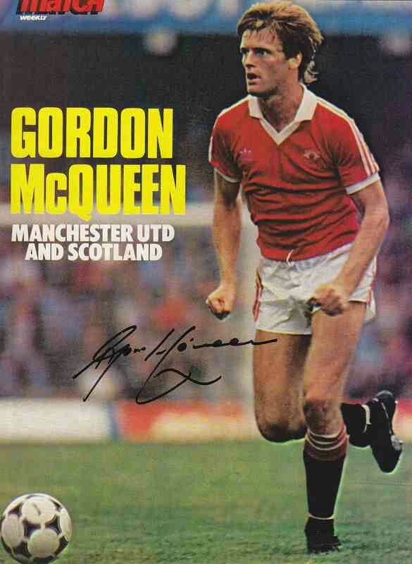 Gordon McQueen of Man Utd in 1980.