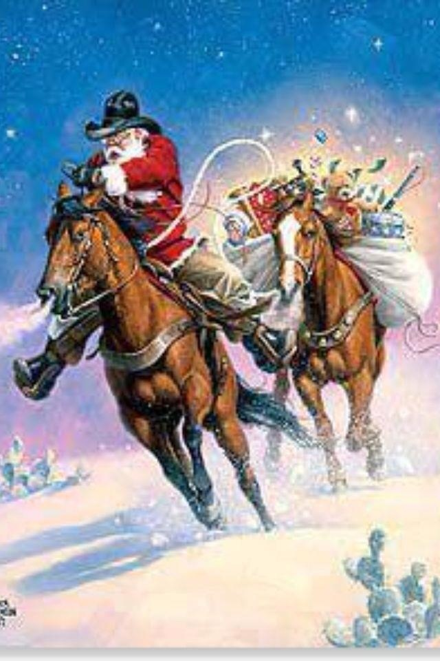 Cowboy Santa Christmas Awesomeness Pinterest