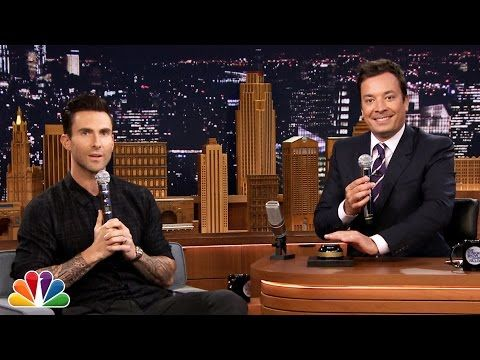 Wheel of Musical Impressions with Adam Levine.. THIS GOES TO PROVE.... HE CAN SING!!!!  ANYTHING!!!!