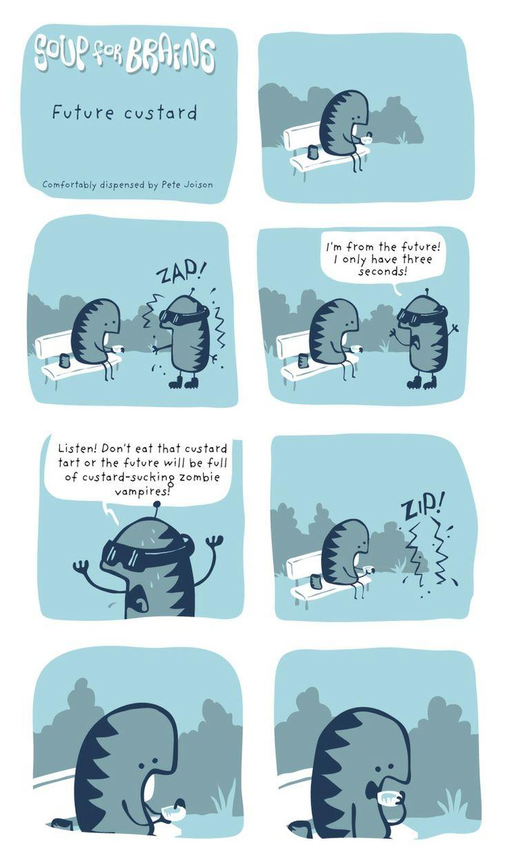 Soup for Brains - Future custard  #weird #webcomic #humor