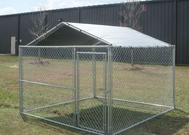 King Canopy 10x10 Dog Kennel Cover  (Kennel in picture is not included)