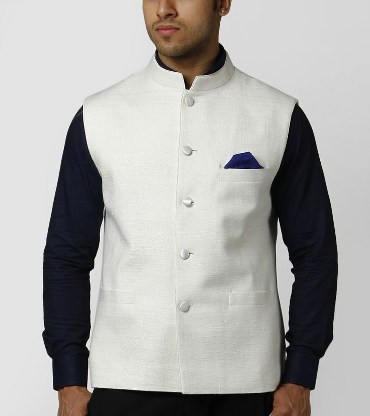 White silk jacket for men