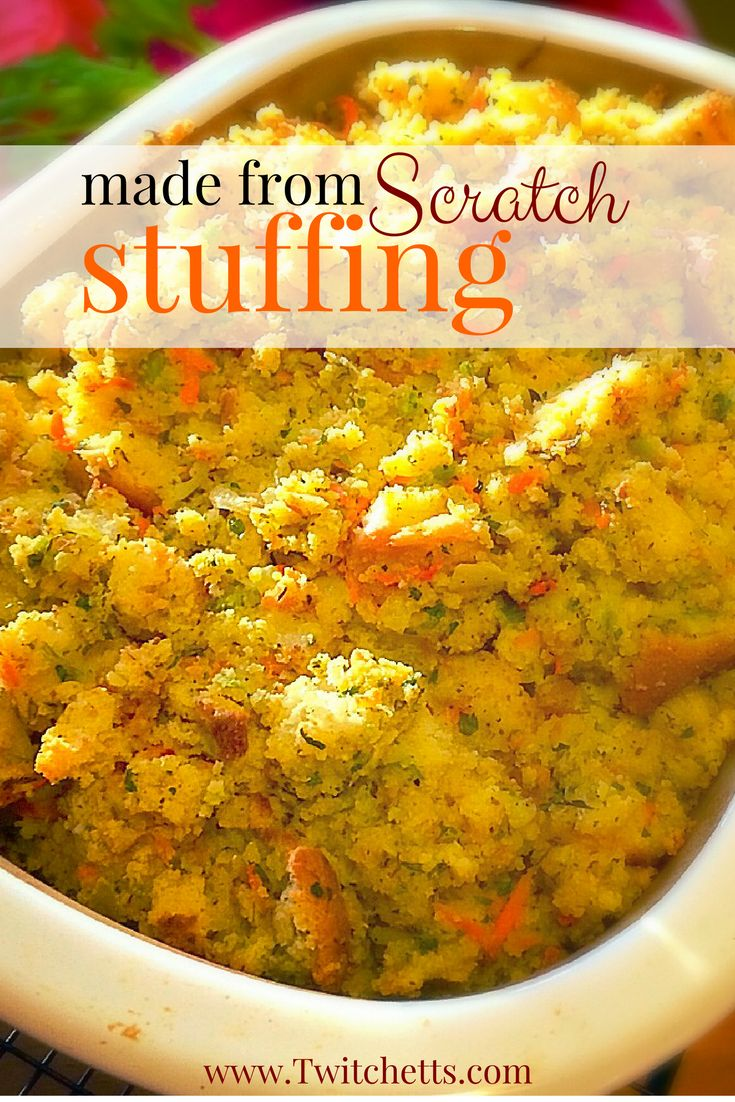 If you are looking for the best homemade Thanksgiving stuffing this is it! Made with cornbread and fresh veggies this dressing is worth every minute! A definite must for Thanksgiving and any other holiday dinner.
