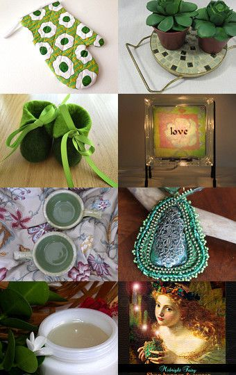 Great Green Gifts! by Gabbie on Etsy--Pinned with TreasuryPin.com