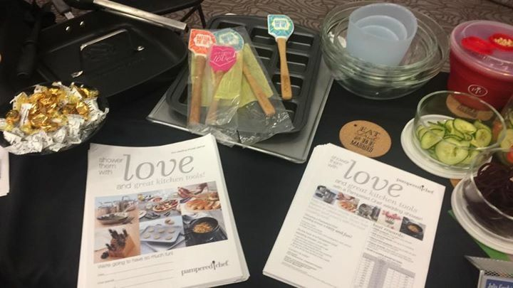 Pampered Chef Wedding expo, wedding Shower, wedding registry