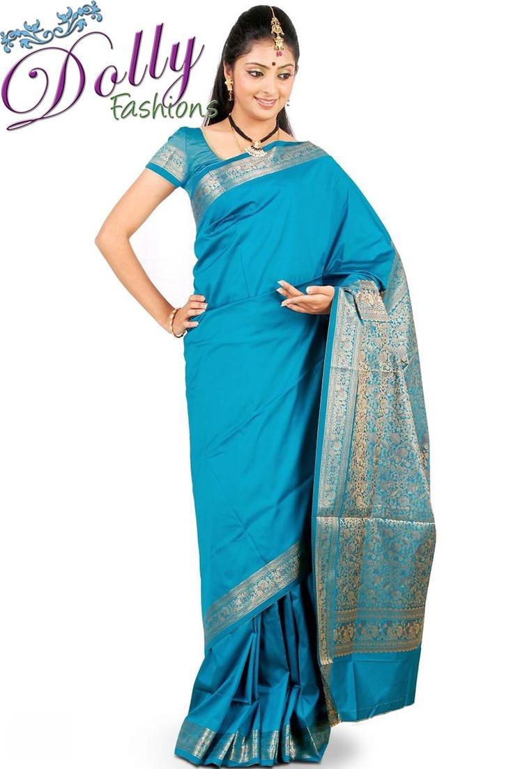 Dark Blue Silk Saree