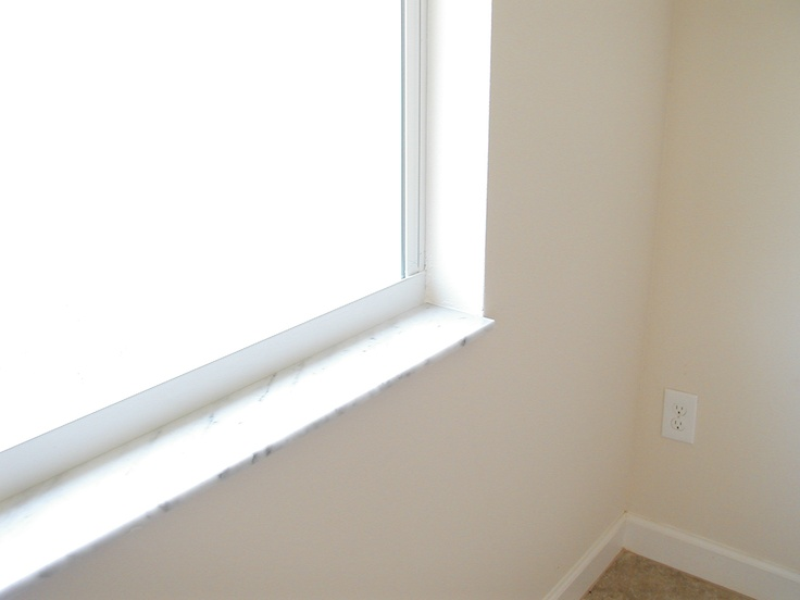Dual pane windows with Low-e for energy efficiency/Marble Window Sills
