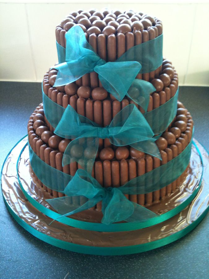 Malteaser & Chocolate finger cake. Love the idea