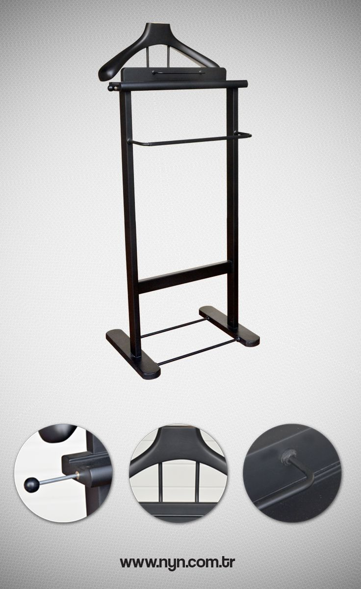 Wooden Stand Hanger (Black)