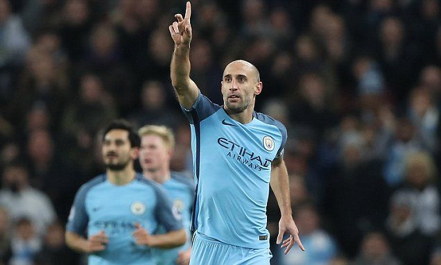 Man City 2-0 Watford: Zabaleta scores first goal for club in two years