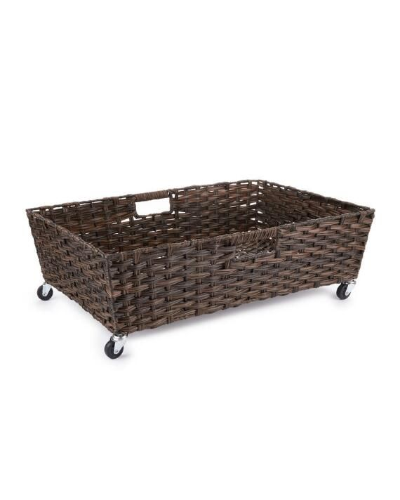 Wheeled Underbed Storage Basket Storage Baskets Under Bed Storage Storage