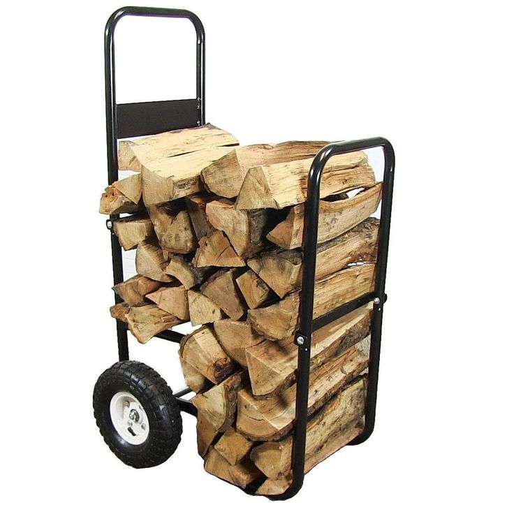Firewood Log Cart, 43 Inch Tall